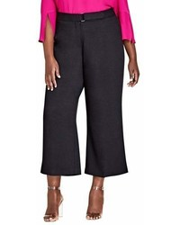 City Chic Elegant Belted Culottes