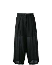 Isabel Benenato Flared Cropped Pants