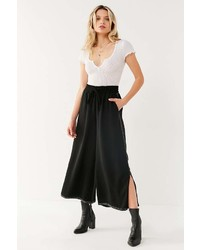 Light Before Dark Contrast Stitch Culotte Pant