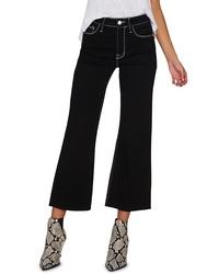 Sanctuary Non Comformist Contrast Stitch Wide Leg Crop Jeans
