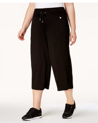 Calvin Klein Performance Plus Size High Waist Wide Leg Culottes