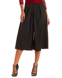 Charlotte Russe Pleated High Waisted Culottes