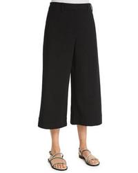 Brunello Cucinelli Sailor Wide Leg Culotte Pants Black