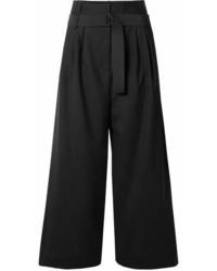 Tibi Serge Wool Culottes Black