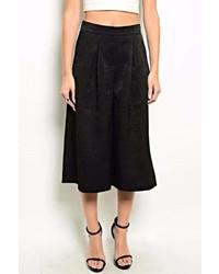 Very J Black Culotte Pants
