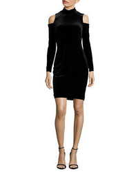 Calvin Klein Cutout Mockneck Velvet Bodycon Dress