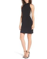 Speechless Embellished Side Cutout Body Con Dress
