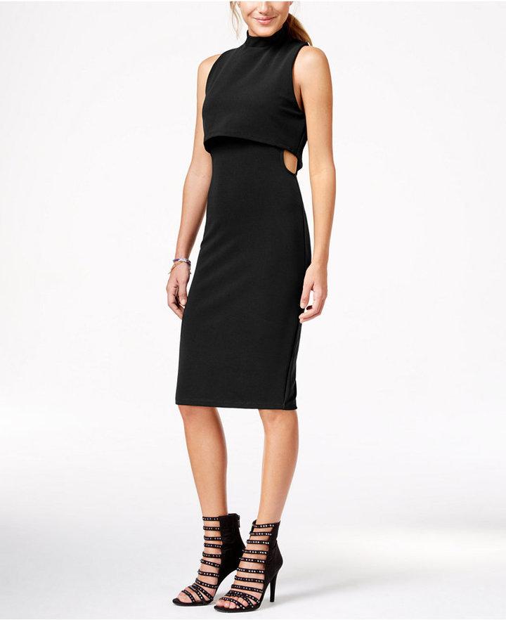 b6c42e0de ... Material Girl Juniors Cutout Popover Bodycon Dress Only At Macys ...