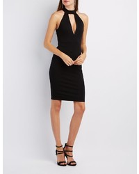 Charlotte Russe Mock Neck Cut Out Bodycon Dress