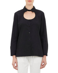 Cutout front poplin shirt medium 76840