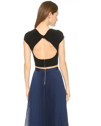 Alice + Olivia Air By Twist Back Crop Top