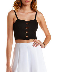 Charlotte Russe Caged Cut Out Bustier Top