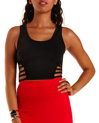 Charlotte Russe Caged Cut Out Crop Top