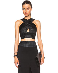 L'Agence Criss Cross Crop Top
