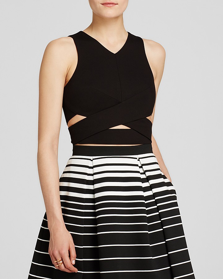 N. N Nicholas Top Wrap Band Crop