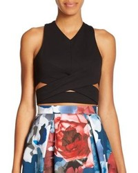 Nicholas N Ponte Wrap Detail Cropped Top