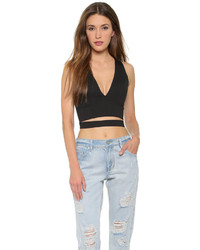 Nicholas Ponte Deep V Crop Top