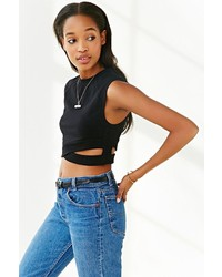 Silence & Noise Silence Noise Cross Banded Cropped Top
