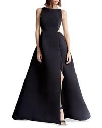 Halston Heritage Faille Cutout Gown