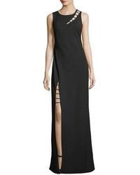 Zac Posen Zac Sasha Sleeveless Strappy Cutout Column Evening Gown