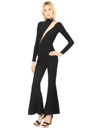 Versace Cutout Silk Turtleneck Jumpsuit