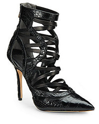 Rachel Roy Alberr Pointy Toe Leather Ankle Boots