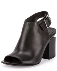 Alexander Wang Nadia Leather Open Toe Bootie Black