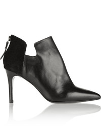 Sandro Amara Leather And Suede Ankle Boots