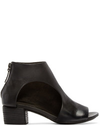 Black leather bo sandalo ankle boots medium 440501