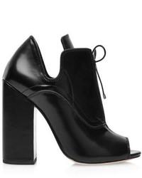 Ellery Boardwalk Leather Ankle Boots In Black