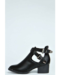 Boohoo Honey Cut Out Double Buckle Ankle Boot