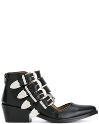 Buckle strap cut out ankle boots medium 3662556