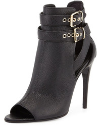 Burberry Overfield Open Toe Bootie Black