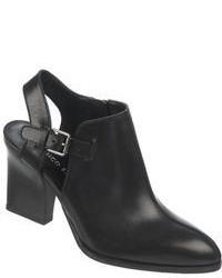 Franco Sarto Capsule Nubuck Leather Heeled Ankle Boots