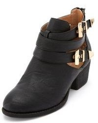 Charlotte Russe Double Buckle Cutout Ankle Bootie
