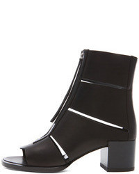 Pierre Hardy Cut Out Calfskin Leather Ankle Booties