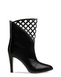Gucci Cutout Leather Ankle Boot