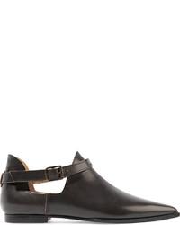 Maison Margiela Cutout Leather Ankle Boots