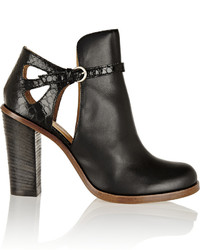 MM6 MAISON MARGIELA Cutout Leather Ankle Boots