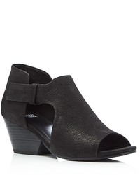 Eileen Fisher Iris Cutout Mid Heel Booties