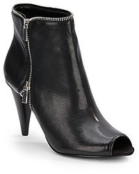 Nine West Laneta Leather Peep Toe Ankle Boots