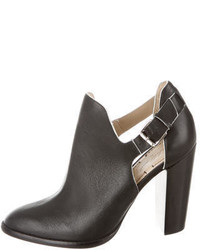 Elizabeth and James Leather Cutout Booties