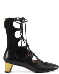 Gucci Leather Lace Up Boot