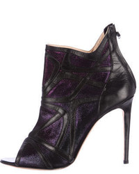 Alejandro Ingelmo Leather Open Toe Booties