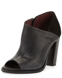 Rag & Bone Mabel Leathersuede Peep Toe Bootie Black
