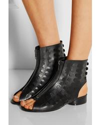 Maison Margiela Cutout Leather Booties visit big sale cheap price sale find great ykcMr7ueI