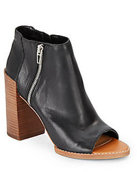 Dolce Vita Mercy Leather Open Toe Ankle Boots