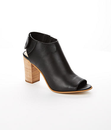 5592f10a805 ... Leather Ankle Boots Steve Madden Mid Heel Open Toe Booties ...