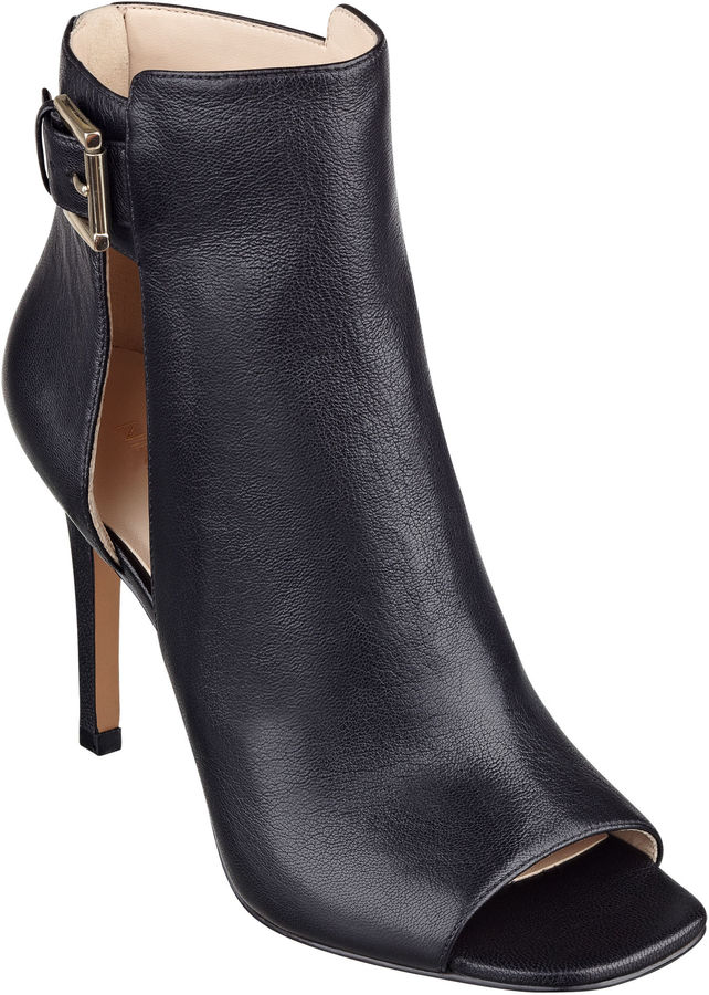 5c2dbd6d063 Nine West Kirstey Peep Toe Booties, $129 | Nine West | Lookastic.com