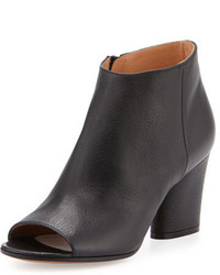 Maison Margiela Open Toe Leather 75mm Bootie Black